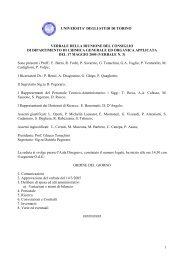universita' degli studi di torino verbale della riunione del consiglio di ...