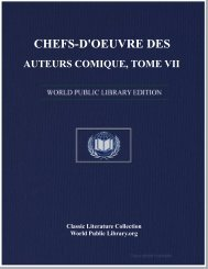 chefs-d'oeuvre des auteurs comique, tome vii - World eBook Library