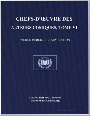 chefs-d'œuvre des auteurs comiques, tome vi - World eBook Library