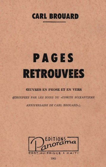 CARL BROUARD PAGES RETROUVEES t - UFDC Image Array 2