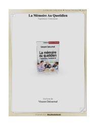 La Mémoire Au Quotidien - Livresnumeriquesgratuits.com