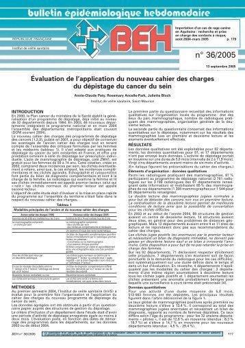 n° 36/2005 - Institut de veille sanitaire