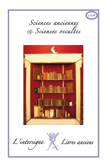 n°133 Sciences anciennes Sciences occultes - L'Intersigne Livres ...