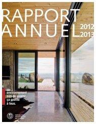 Rapport annuel 2012-2013 - Ordre des architectes du Québec