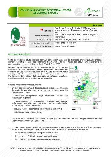 plan climat energie territorial du pnr des grands causses - AERE