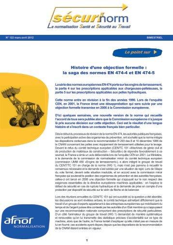 Projet de norme laveurs desinfecteurs adiph - Norme europeenne en 13241 1 ...