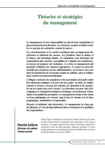 Théories et stratégies du management - ACTIF