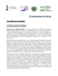 Un projet innovateur et mobilisateur - Commission Scolaire des ...