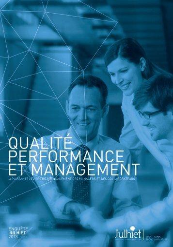 Enquête : Qualité, Performance et Management - Julhiet