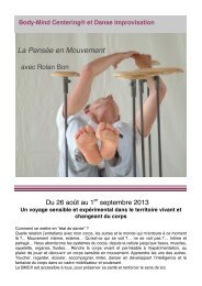 Stage Rolan 2013 - La Trisande compagnie de danse contemporaine