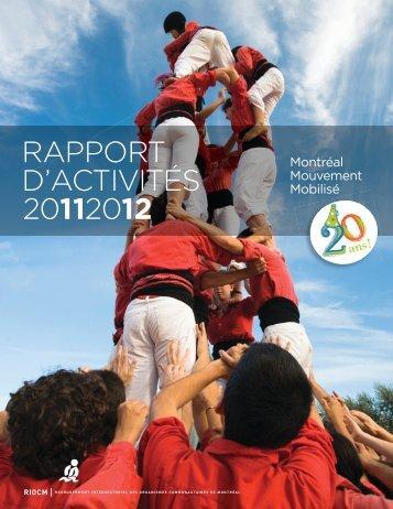Rapport d'activités 2011-2012 - RIOCM