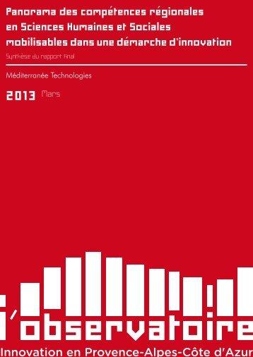 Panorama des compétences régionales en ... - PACA Innovation