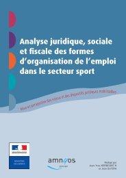 Analyse juridique, sociale et fiscale des formes d'organisation de