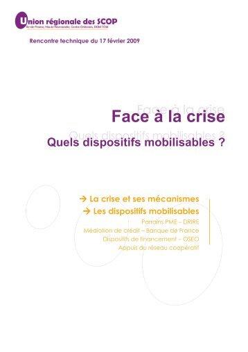 Face à la crise (volet 1) - dossier complet - SCOP
