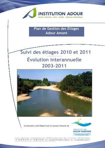 rapport de suivi 2010_2011 - Institution Adour