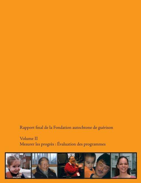 Volume II Mesurer les progrès : Évaluation des programmes
