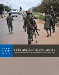 « BIEN LOIN DE LA RÉCONCILIATION » - Human Rights Watch