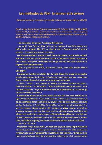 1. Les méthodes du FLN : la terreur et la torture - Edition Atlantis