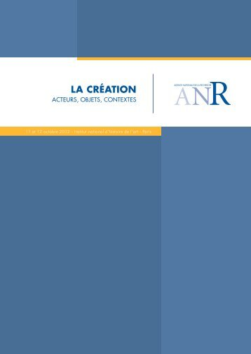 booklet - Agence Nationale de la Recherche