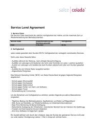 Service Level Agreement -  colada
