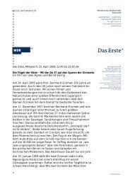 WDR Presseinformation zum Film