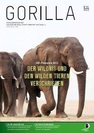 ZGF Gorilla | Februar 2013 - Zoologische Gesellschaft Frankfurt