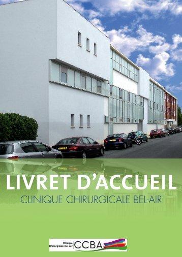 Livret d'accueil Clinique Chirurgicale Bel-Air - Groupe Bordeaux ...