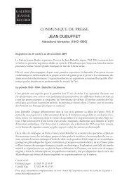 Télécharger le Dossier de Presse - Galerie Jeanne Bucher