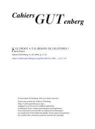 Le Didot a-t-il besoin de ligatures ? - Cahiers GUTenberg - EU.org