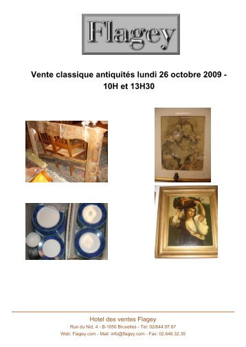 Vente classique antiquités lundi 26 octobre ... - Auction In Europe
