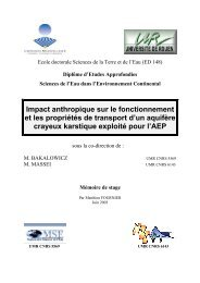 Impact anthropique sur le fonctionnement et les propriétés de ...
