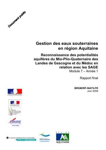 EtudeBRGM_NappesPlio.. - Institution Adour