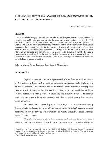 """""""Bosquejo histórico"""" do Dr. Joaquim Antonio Alves ... - Ce.anpuh.org"""