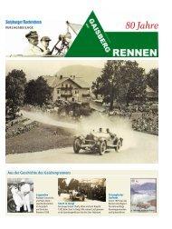 Aus der Geschichte des Gaisbergrennens - Salzburger Nachrichten