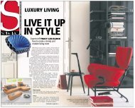 Live it up in style - The Business Times