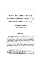 SUR UN FORAMINIFÈRE NOUVEAU - Revue de géologie alpine
