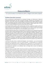 FEUILLE DE ROUTE - Edora