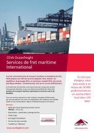 Télécharger la brochure - CEVA Logistics
