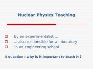 Nuclear Physics Teaching - GSI