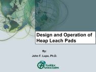 Design and Operation of Heap Leach Pads