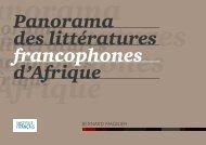 Panorama des littératures francophones d'Afrique - Association ...