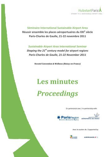 Les minutes du Séminaire international Sustainable ... - Hubstart Paris