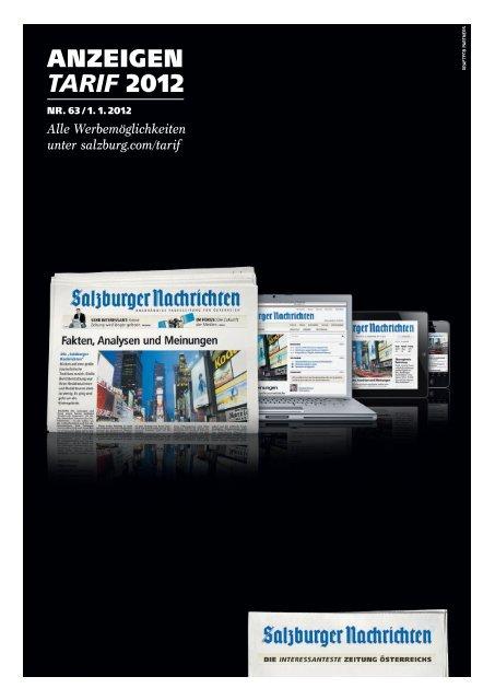 SN-Tarif 2012.indd - Salzburger Nachrichten