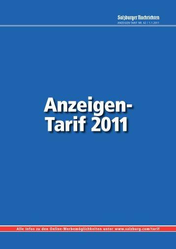 Anzeigen- Tarif 2011 - Salzburger Nachrichten