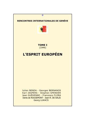 01. 1946. -- L'Esprit européen - Rencontres Internationales de Genève