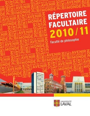 Baccalauréat intégré en littératures et philosophie (B - Université Laval