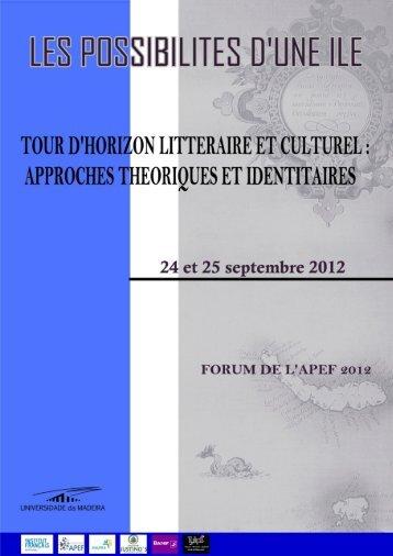 Resumos_Appel_Forum_APEF_2012 - Universidade da Madeira