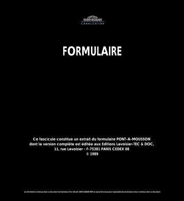 FORMULAIRE FORMULAIRE - Saint-gobain-pam.pt
