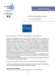 Semaine des Mathématiques - Vice-Rectorat de Mayotte