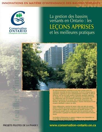 le cadre de gestion des bassins versants - Conservation Ontario